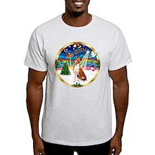 XmasMusic 3/Basenji T-Shirt
