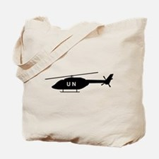 Black UN Helicopter Tote Bag