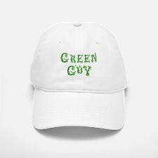 Green Guy Baseball Baseball Cap