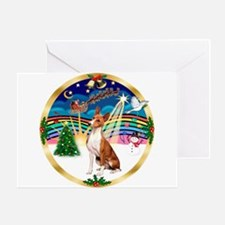 XmasMusic 3/Basenji Greeting Card