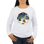 XmasMusic 3/Basenji Women's Long Sleeve T-Shirt