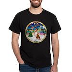 XmasMusic 3/Basenji Dark T-Shirt