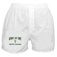 """""""Army of One- United Ireland"""" Boxer Shorts"""
