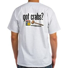 """got crabs?"" Ash Grey T-Shirt"