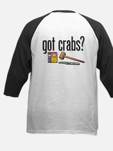 """""""got crabs?"""" Kids Baseball Jersey"""