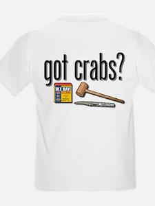"""""""got crabs?"""" Kids T-Shirt"""