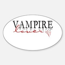 Vampire Lover Oval Decal