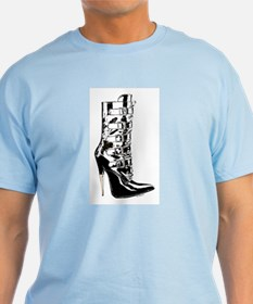 Leather Stilletto Boot T-Shirt