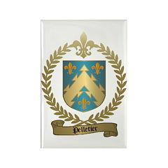 PELLETIER Family Crest Rectangle Magnet