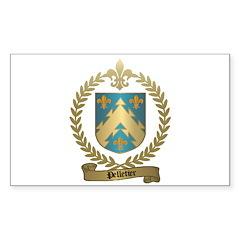 PELLETIER Family Crest Rectangle Decal