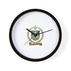 PELLETIER Family Crest Wall Clock