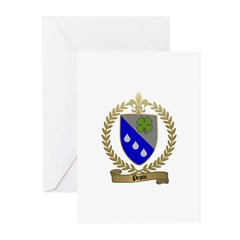 PEPIN Family Crest Greeting Cards (Pk of 10)