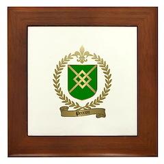 PERRON Family Crest Framed Tile