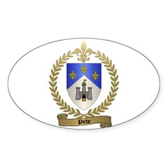 PICHE Family Crest Oval Decal