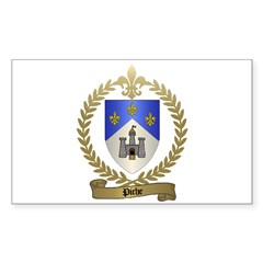 PICHE Family Crest Rectangle Decal