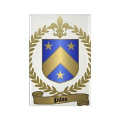 PILON Family Crest Rectangle Magnet (100 pack)
