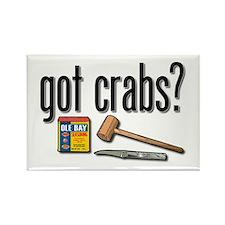 """got crabs?"" Rectangle Magnet"