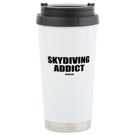 SKYDIVING ADDICT Stainless Steel Travel Mug