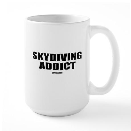 SKYDIVING ADDICT Large Mug