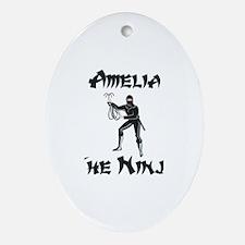 Amelia - The Ninja Oval Ornament