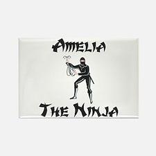 Amelia - The Ninja Rectangle Magnet