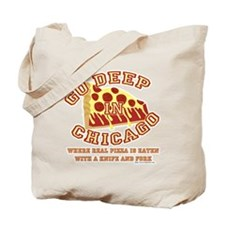 Deep Dish Pizza Tote Bag