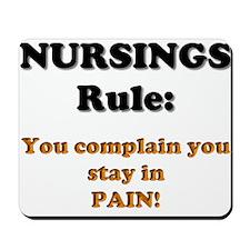 Rule: Pain Mousepad