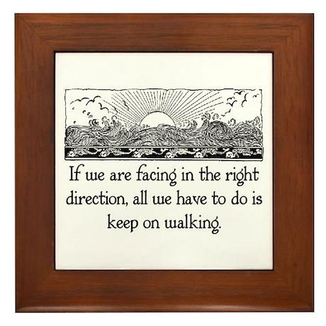 THE RIGHT DIRECTION Framed Tile