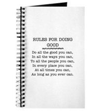 RULES FOR DOING GOOD Journal