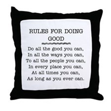 RULES FOR DOING GOOD Throw Pillow
