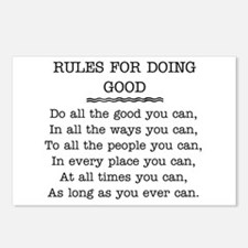 RULES FOR DOING GOOD Postcards (Package of 8)