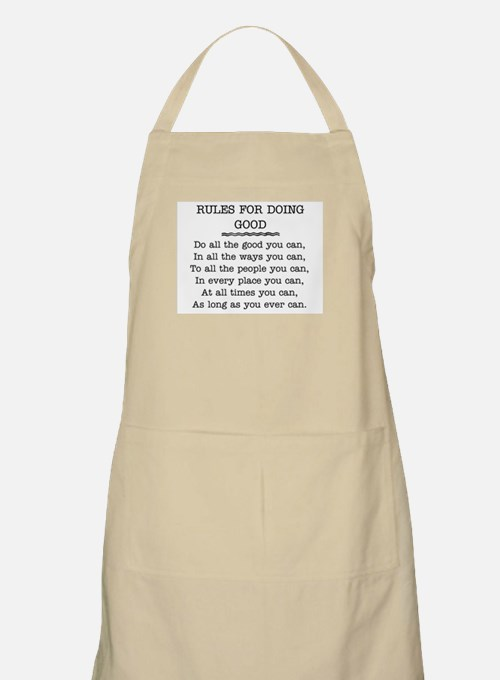 RULES FOR DOING GOOD Apron