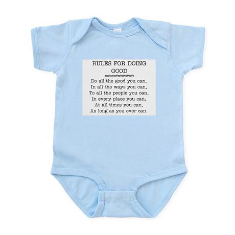 RULES FOR DOING GOOD Infant Bodysuit