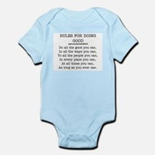 RULES FOR DOING GOOD Infant Bodysuit