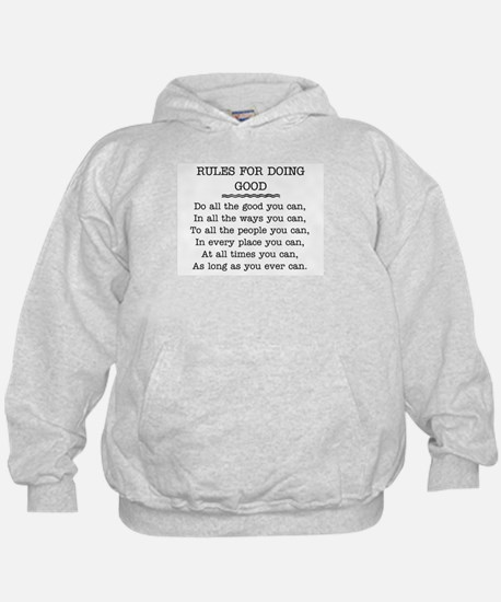 RULES FOR DOING GOOD Hoodie