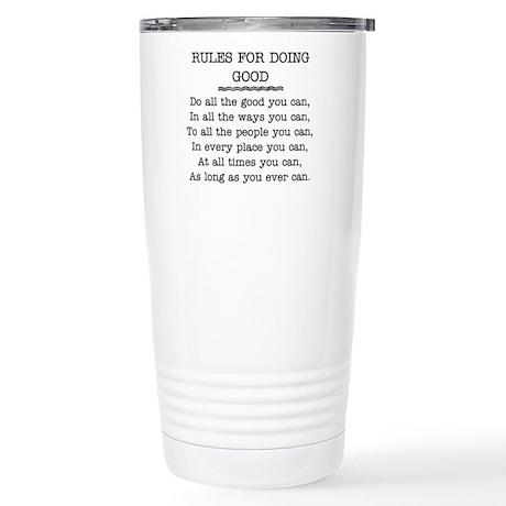 RULES FOR DOING GOOD Stainless Steel Travel Mug