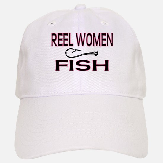 Reel Women Fish Baseball Baseball Cap
