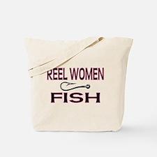 Reel Women Fish Tote Bag