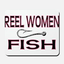 Reel Women Fish Mousepad