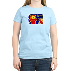 Ed the Head on Women's Pink T-Shirt