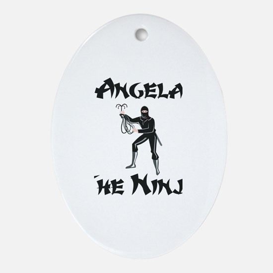 Angela - The Ninja Oval Ornament
