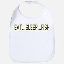 Eat Sleep Fish Bib
