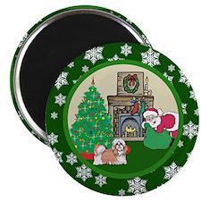 Santa & A Shih Tzu Magnet