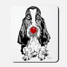 Red Nose Basset Mousepad