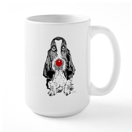 Red Nose Basset Large Mug