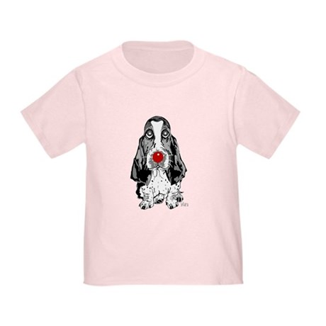 Red Nose Basset Toddler T-Shirt