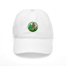 Santa & A Sheltie Baseball Cap