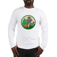 Santa & A Sheltie Long Sleeve T-Shirt