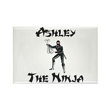 Ashley - The Ninja Rectangle Magnet