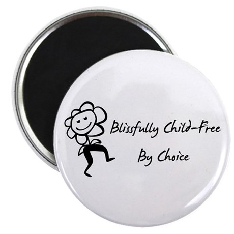 "Blissfully Child-Free 2.25"" Magnet (10 pack)"
